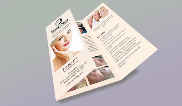 DesiredFace Brochure - Desiredface - European Facial Workout - California - www.desiredface.com