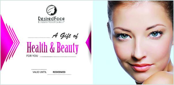 Gift Certificate Desiredface - European Facial Workout - California - www.desiredface.com