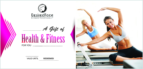 Gift Certificate Pilates Desiredface - European Facial Workout - California - www.desiredface.com