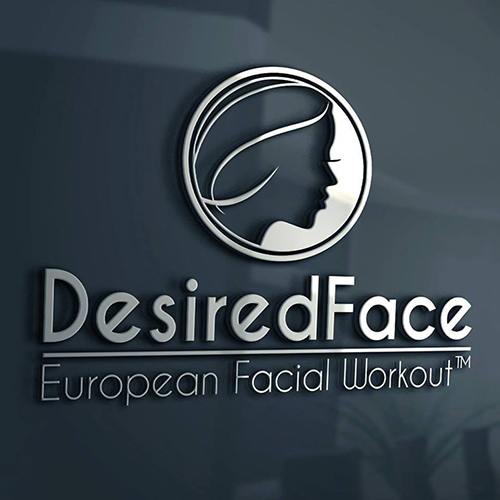 DesiredFace Logo - Desiredface - European Facial Workout - California - www.desiredface.com